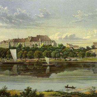Zamek w Siedlisku overlooking the Odra river
