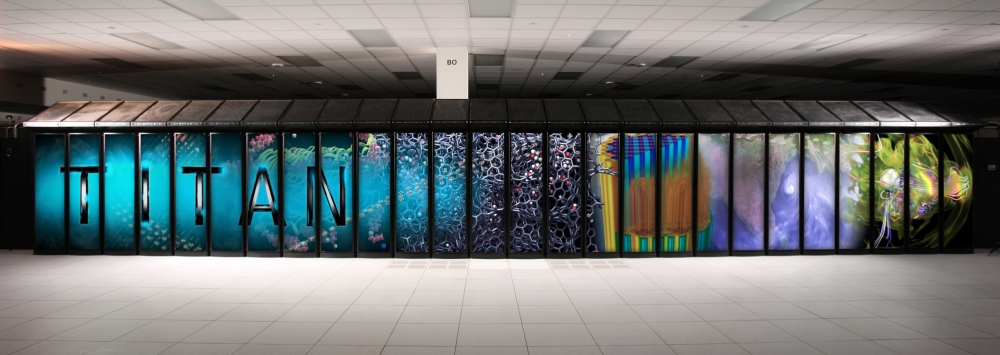 "Der Supercomputer ""Titan"" des Oak Ridge National Laboratory"