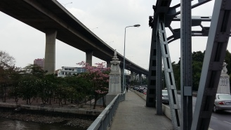 Cool place to start: Bangkok Bridge on the Western Banks of Mae Nam Chao Phraya.