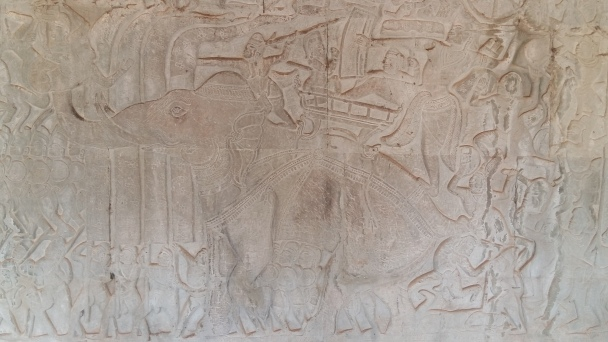 ... for a least 1000 years Elephants and Horses bring victory for the Khmer army.