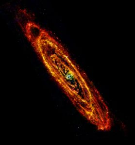 ESA Herschel space observatory image of Andromeda (M31)