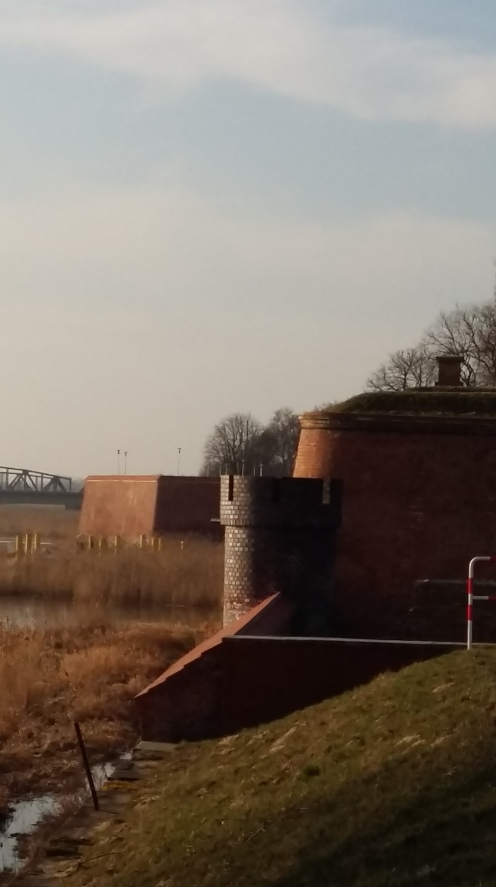 The fortress along the Odra river